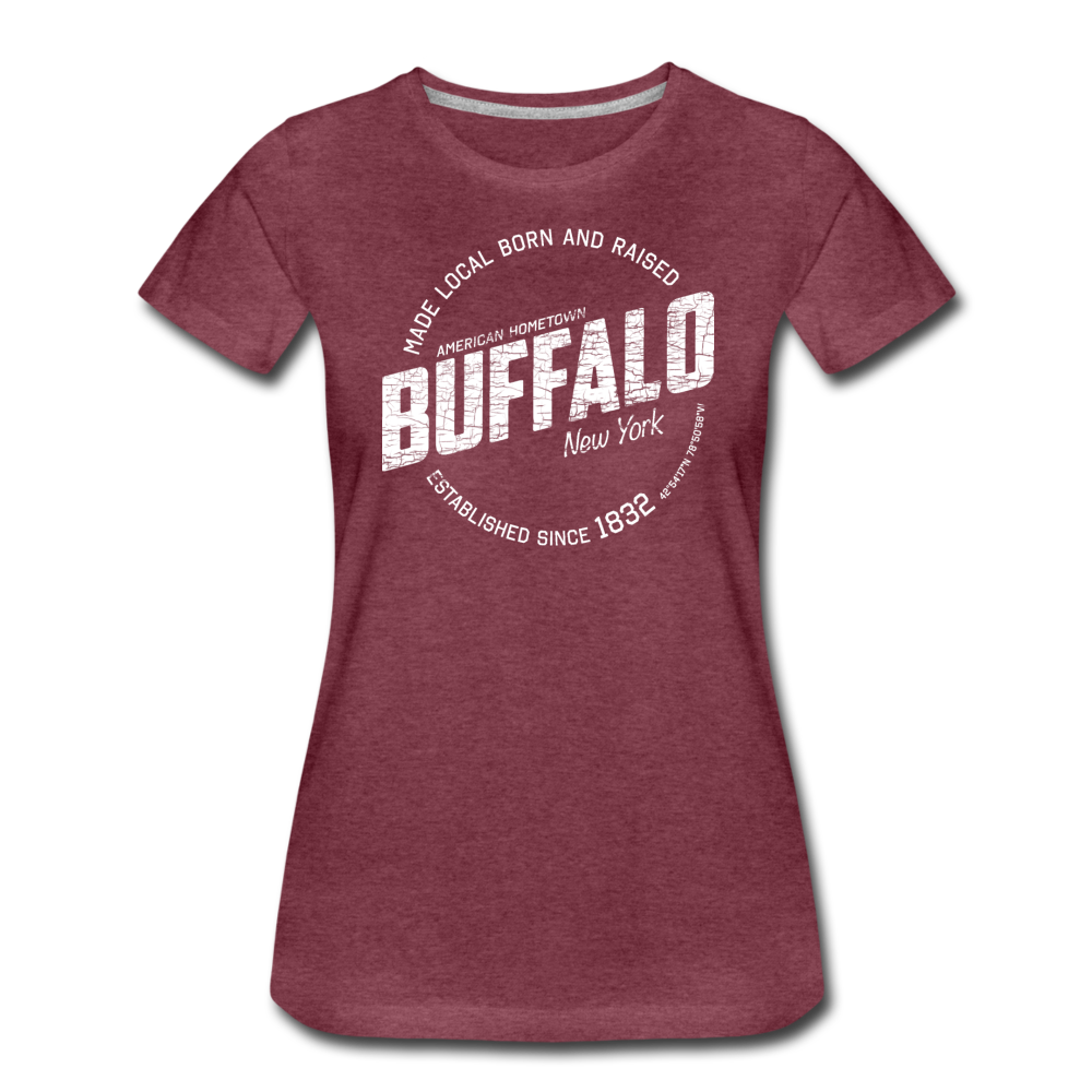 Women's Stamp Premium T-Shirt - heather burgundy