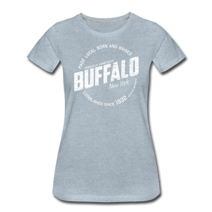Women's Stamp Premium T-Shirt - heather ice blue