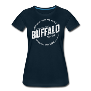 Women's Stamp Premium T-Shirt - deep navy