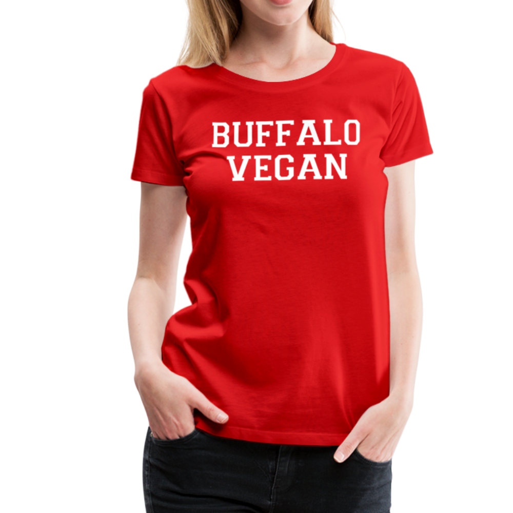 Women's Vegan Premium T-Shirt - red