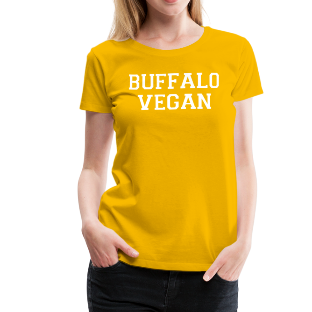 Women's Vegan Premium T-Shirt - sun yellow