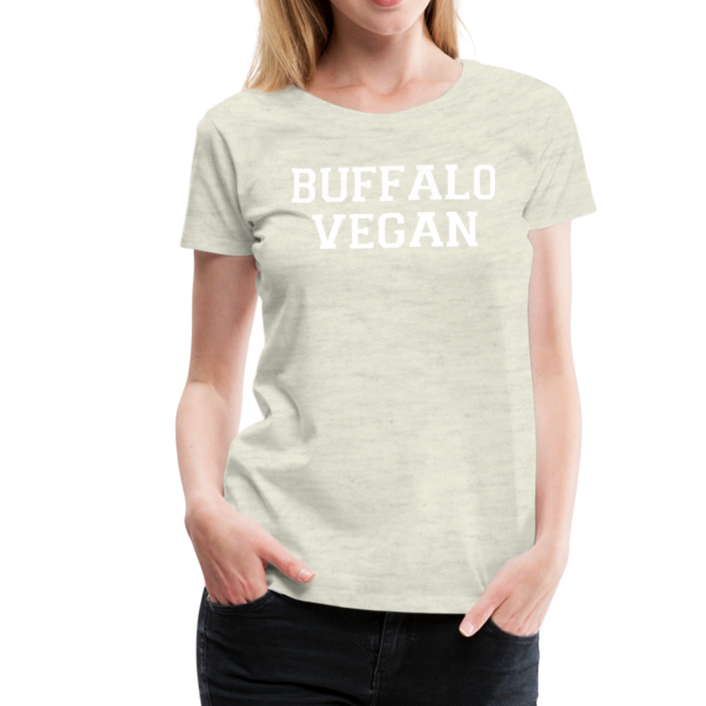 Women's Vegan Premium T-Shirt - heather oatmeal