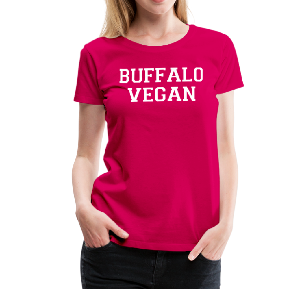 Women's Vegan Premium T-Shirt - dark pink