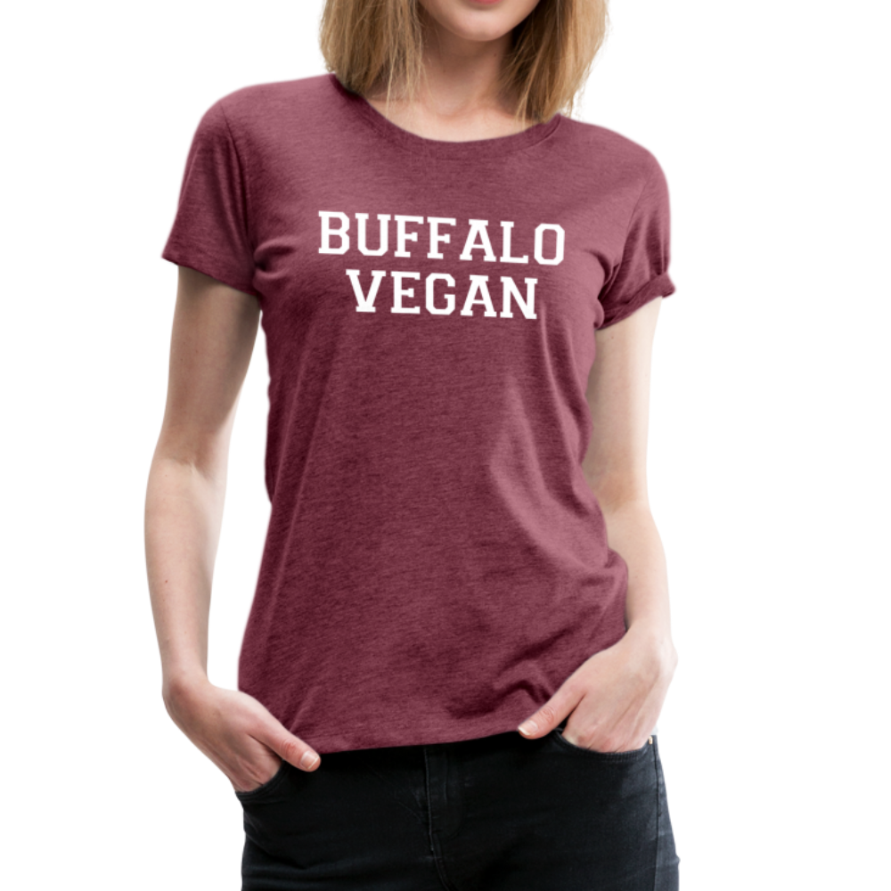 Women's Vegan Premium T-Shirt - heather burgundy