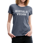Women's Vegan Premium T-Shirt - heather blue