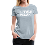 Women's Vegan Premium T-Shirt - heather ice blue