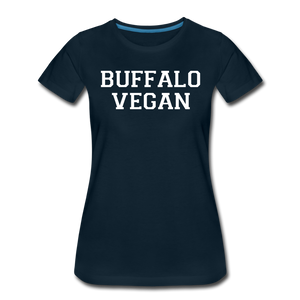 Women's Vegan Premium T-Shirt - deep navy