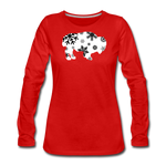 Women's Bison Snow Premium Long Sleeve T-Shirt - red