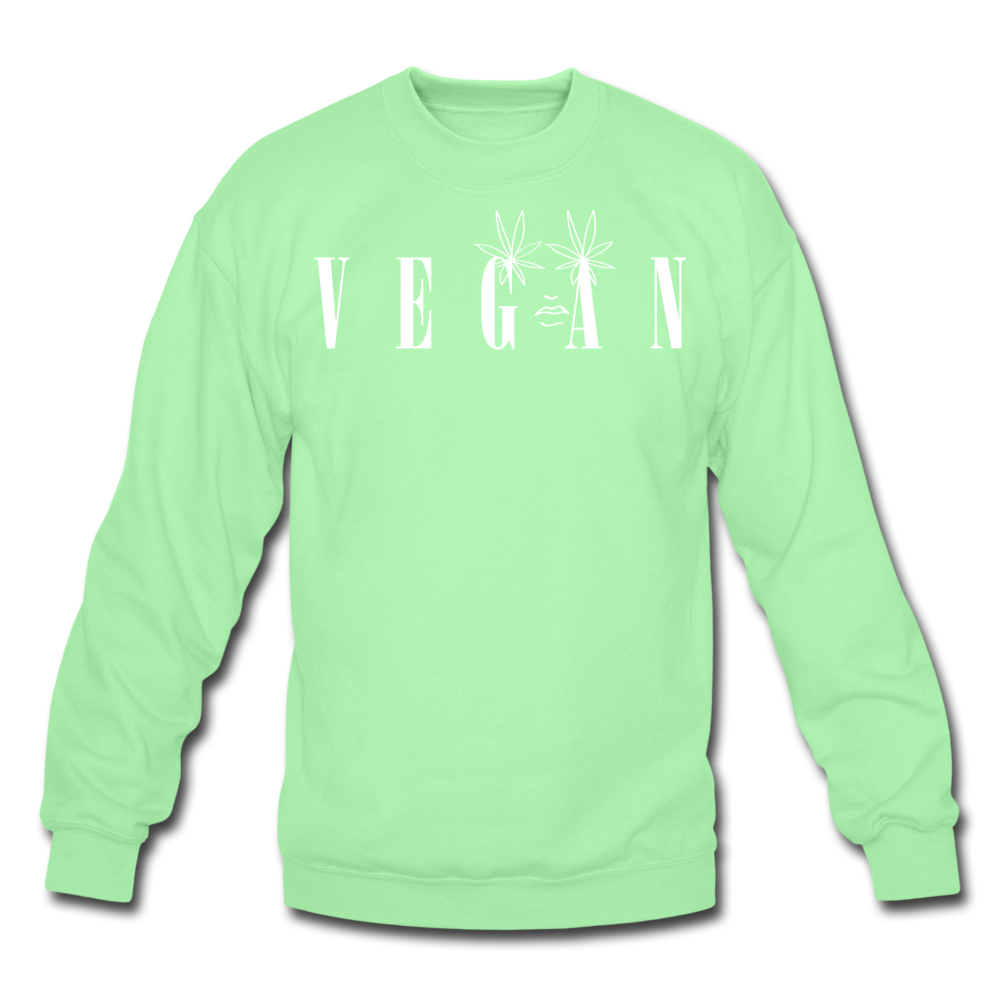 Crewneck Vegan Vogue Sweatshirt - lime