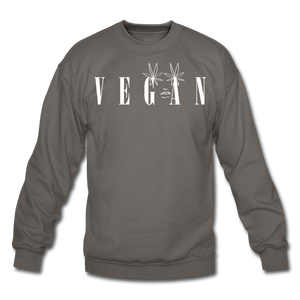 Crewneck Vegan Vogue Sweatshirt - asphalt gray