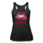 Women's Lips Tri-Blend Racerback Tank - heather black