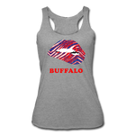 Women's Lips Tri-Blend Racerback Tank - heather gray