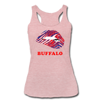 Women's Lips Tri-Blend Racerback Tank - heather dusty rose
