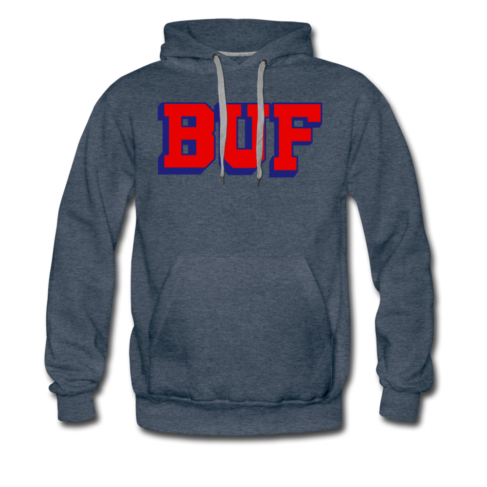 Men's BUF Premium Hoodie - heather denim