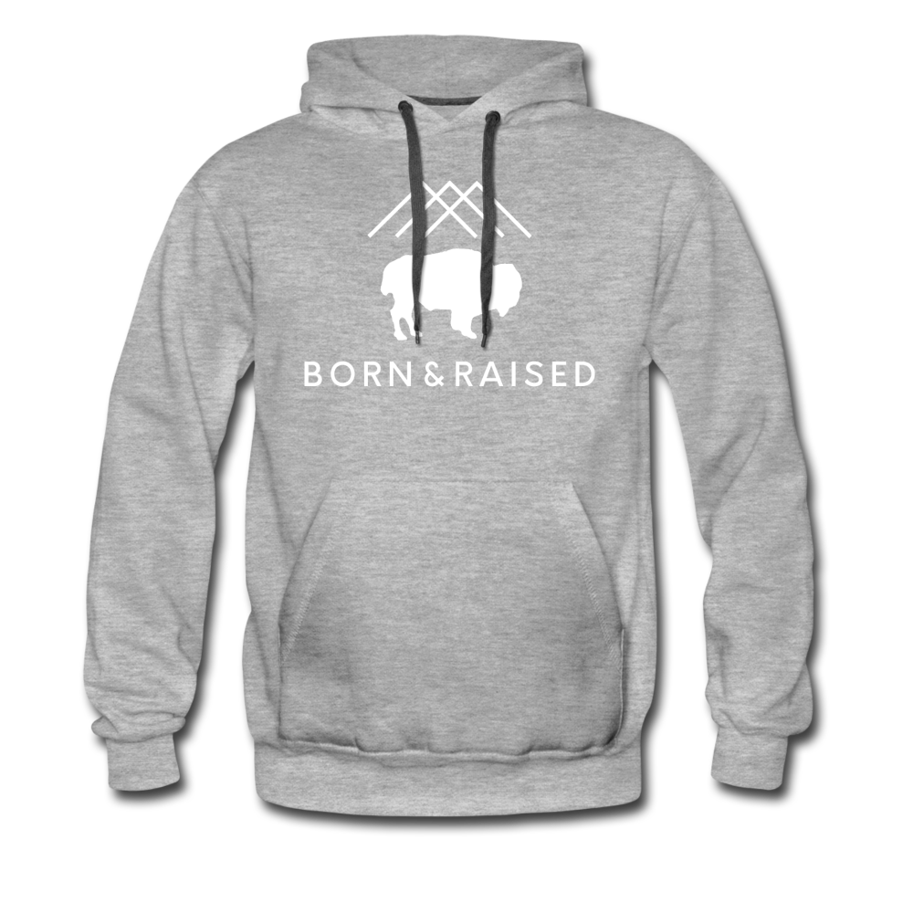 Men's B&R Premium Hoodie - heather gray