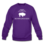 Unisex B&R Crewneck Sweatshirt - purple
