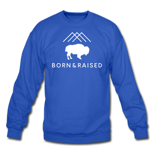 Unisex B&R Crewneck Sweatshirt - royal blue
