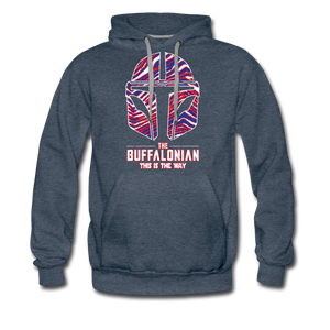 Men's Buffalonian Premium Hoodie - heather denim