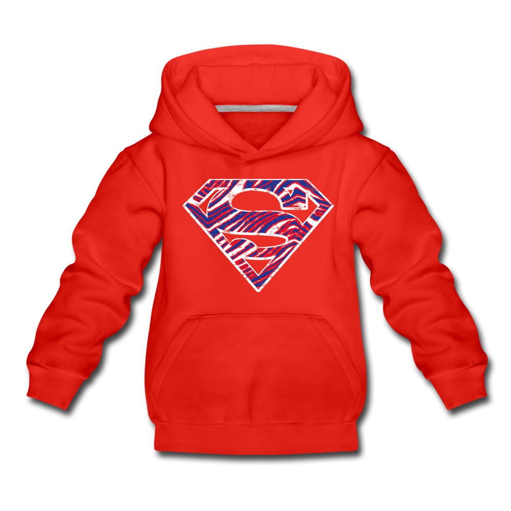 Kids' Superman Premium Hoodie - red