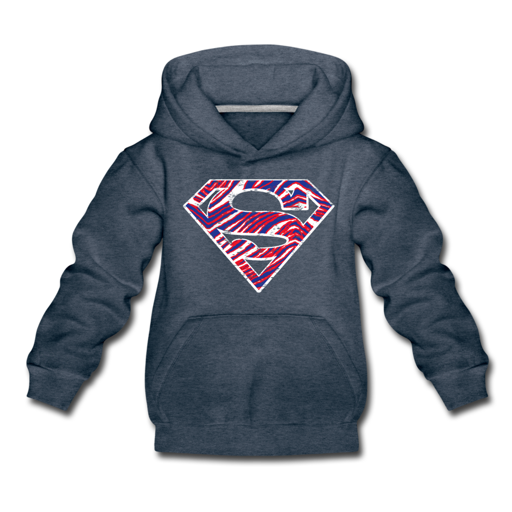 Kids' Superman Premium Hoodie - heather denim