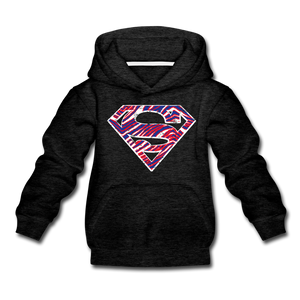 Kids' Superman Premium Hoodie - charcoal gray