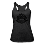 Women's Buffalotus Tri-Blend Racerback Tank - heather black