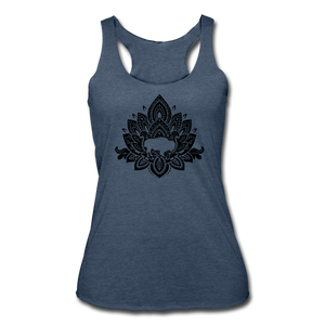 Women's Buffalotus Tri-Blend Racerback Tank - heather navy