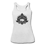 Women's Buffalotus Tri-Blend Racerback Tank - heather white