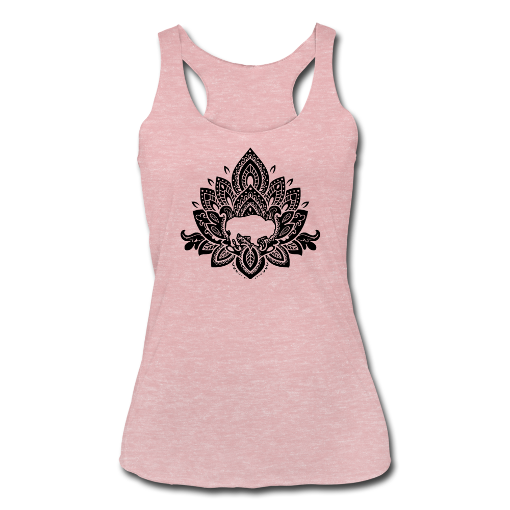 Women's Buffalotus Tri-Blend Racerback Tank - heather dusty rose