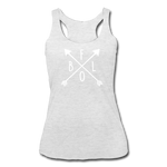 Women's BFLO Tri-Blend Racerback Tank - heather white
