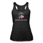 Women's B&R Tri-Blend Racerback Tank - heather black