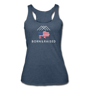Women's B&R Tri-Blend Racerback Tank - heather navy