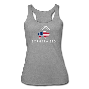 Women's B&R Tri-Blend Racerback Tank - heather gray
