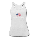 Women's B&R Tri-Blend Racerback Tank - heather white