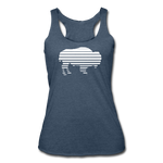 Women's Adidas Tri-Blend Racerback Tank - heather navy