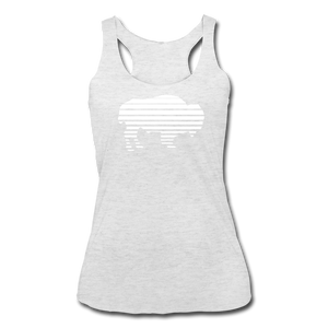 Women's Adidas Tri-Blend Racerback Tank - heather white