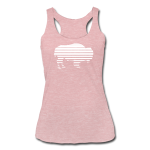 Women's Adidas Tri-Blend Racerback Tank - heather dusty rose