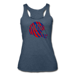 Women's Helmet Tri-Blend Racerback Tank - heather navy