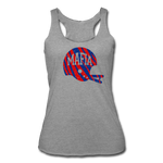 Women's Helmet Tri-Blend Racerback Tank - heather gray