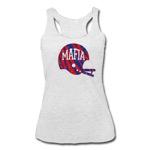 Women's Helmet Tri-Blend Racerback Tank - heather white