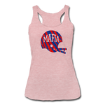 Women's Helmet Tri-Blend Racerback Tank - heather dusty rose
