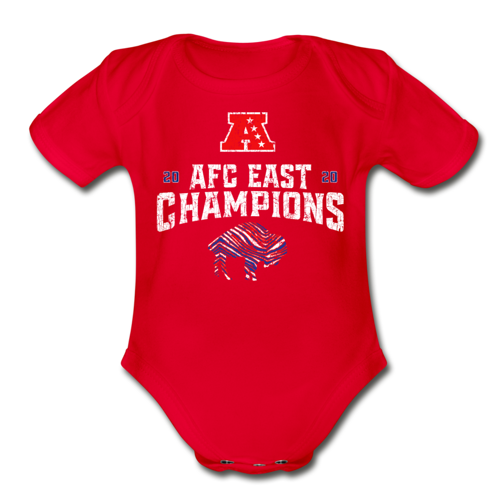 AFC Organic Short Sleeve Baby Bodysuit - red