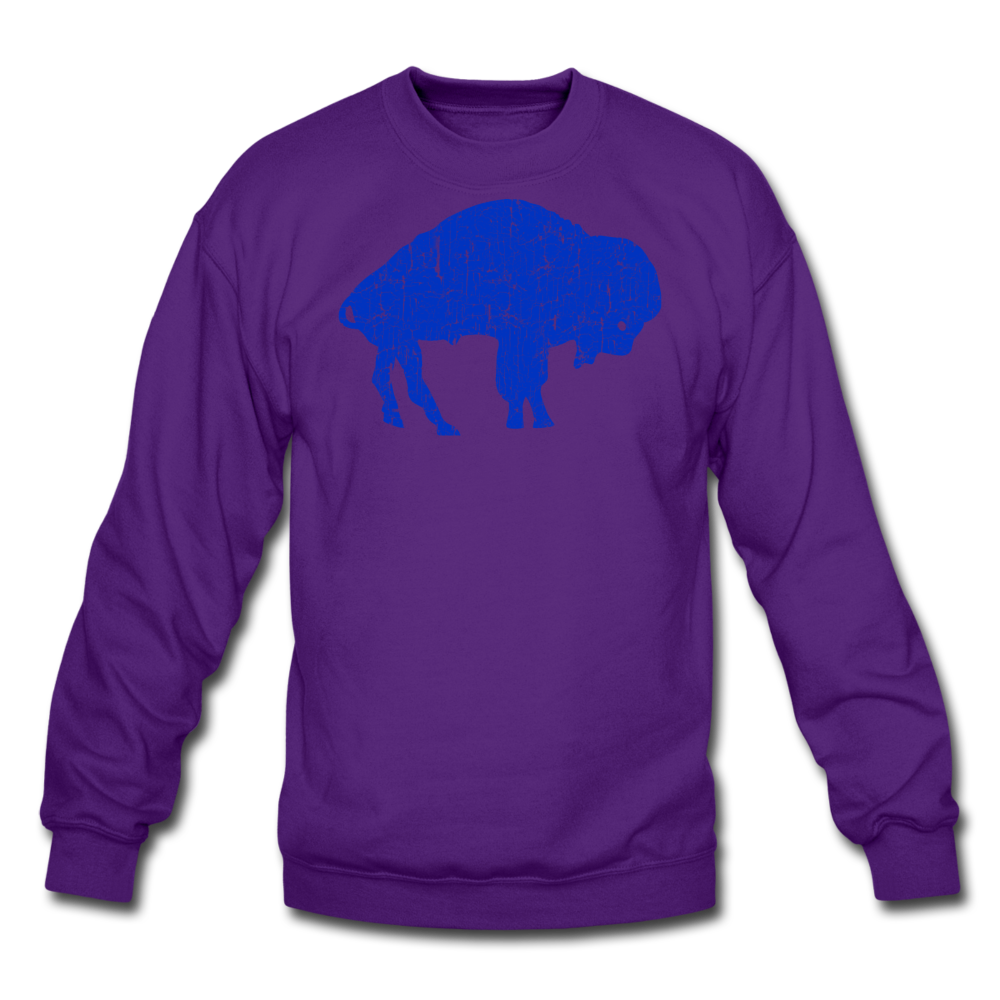 Unisex Blue Bison Crewneck Sweatshirt - purple