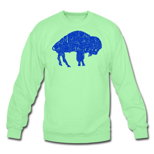Unisex Blue Bison Crewneck Sweatshirt - lime