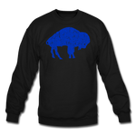 Unisex Blue Bison Crewneck Sweatshirt - black