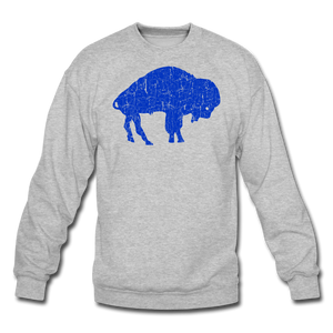 Unisex Blue Bison Crewneck Sweatshirt - heather gray