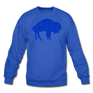 Unisex Blue Bison Crewneck Sweatshirt - royal blue