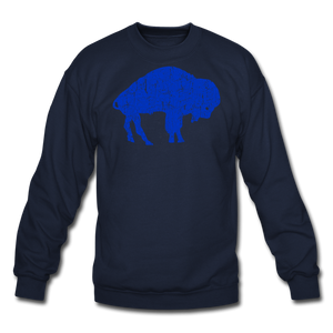 Unisex Blue Bison Crewneck Sweatshirt - navy