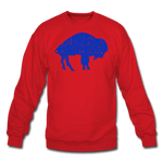 Unisex Blue Bison Crewneck Sweatshirt - red