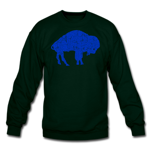Unisex Blue Bison Crewneck Sweatshirt - forest green